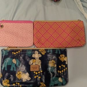 Set of 3 assorted make-up bags